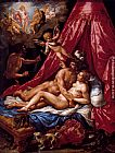 Hendrick De Clerck Mars And Venus Surprised By Apollo painting