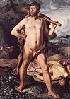 Hendrick Goltzius Hercules and Cacus painting