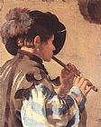 Hendrick Terbrugghen The Flute Player painting