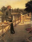 Henri Gervex An Elegant Man on a Terrace painting