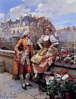 Henri Victor Lesur The Flower Seller painting