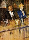 Henri de Toulouse-Lautrec At the Café The Customer and the Anemic Cashier painting
