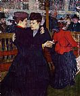Henri de Toulouse-Lautrec At the Moulin Rouge the Two Waltzers painting