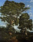 Henri-Joseph Harpignies In The Forest painting