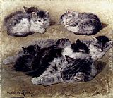 Henriette Ronner-Knip A Study Of Cats painting