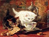 Henriette Ronner-Knip High Tea painting