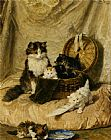 Henriette Ronner-Knip Kittens At Play painting
