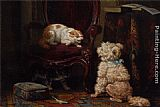 Henriette Ronner-Knip The Uninvited Guest painting