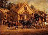 Henry Alken A Halted Coach painting