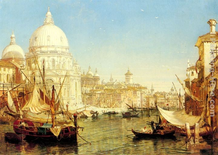 Henry Courtney Selous A Venetian Canal Scene with the Santa Maria della Salute