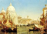 Henry Courtney Selous A Venetian Canal Scene with the Santa Maria della Salute painting