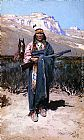 Henry Farny Indian Brave painting