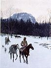 Henry Farny Obsidian Mountain in The Yellowstone painting