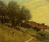Henry Herbert La Thangue A Hillside Village in Provence painting