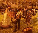 Henry Herbert La Thangue A Sussex Orchard painting