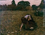Henry Herbert La Thangue Dawn painting