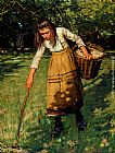Henry Herbert La Thangue Gathering Wool painting