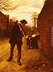 Henry Herbert La Thangue Off To Work painting