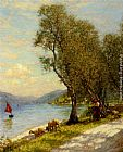 Henry Herbert La Thangue Veronese shepherdess Lake Garda painting