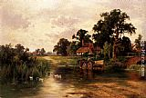 Henry Hillier Parker Across The Ford painting