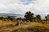 Henry Hillier Parker Harvesting By The Sea painting