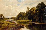 Henry Hillier Parker On The Banks Of The Thames painting