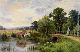 Henry Hillier Parker Watering the Horses painting