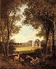 Henry John Boddington A View of Norton Hall, near Daventry, North Hamptonshire, England painting