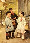 "Henry Jules Jean Geoffroy ""Give me a Bite"" painting"