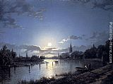 Henry Pether Marlow On Thames painting