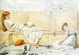 Henry Ryland Two Classical Figures Reclining painting