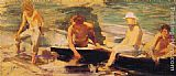Henry Scott Tuke The Rowing Party painting