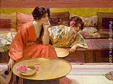 Henry Siddons Mowbray Idle Hours painting