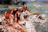 Henry Siddons Mowbray Oriental Fantasy painting