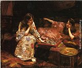 Henry Siddons Mowbray Repose, A Game of Chess painting