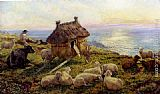 Henry William Banks Davis On The Cliffs, Picardy painting