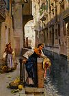 Henry Woods Fruit Sellers from The Islands - Venice painting