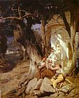 Henryk Hector Siemiradzki By a Temple (Idyll) painting