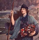 Herbert Gustave Schmalz Nydia Blind Girl of Pompeii painting