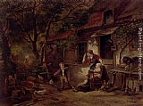 Herman Frederik Carel ten Kate The Farmyard Thief painting