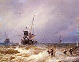 Herman Herzog Fishing Scenes - Pic 2 painting