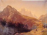 Herman Herzog In the Alps painting