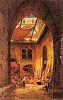 Hermann David Solomon Corrodi Arab Carpet Merchants painting