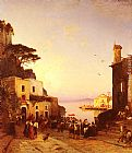 Hermann David Solomon Corrodi Processione A Sorrento painting