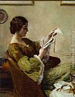 Hermann Jean Joseph Richir Young Woman Reading painting