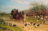 Heywood Hardy Hounds First, Gentlemen, Hounds First painting