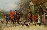Heywood Hardy The Stirrup Cup painting