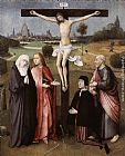 Hieronymus Bosch Crucifixion with a Donor painting