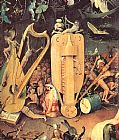 Hieronymus Bosch Garden of Earthly Delights, detail of right wing painting