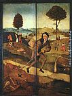 Hieronymus Bosch The Path of Life, outer wings of a triptych painting